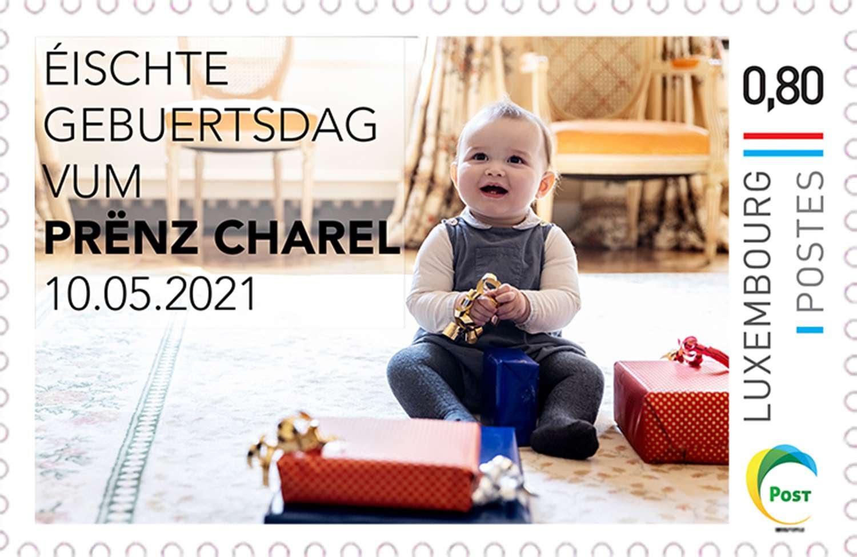 Новые марки почты Люксембурга в честь дня рождения принца Шарля